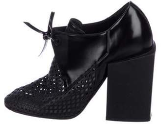 Balenciaga Leather Round-Toe Ankle Booties Black Leather Round-Toe Ankle Booties