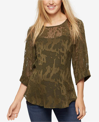 A Pea in the Pod Maternity Textured Chiffon Blouse