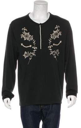 Co RRL & Embroidered Henley Sweater