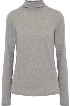 Theory Mélange Cotton And Cashmere-Blend Turtleneck Top