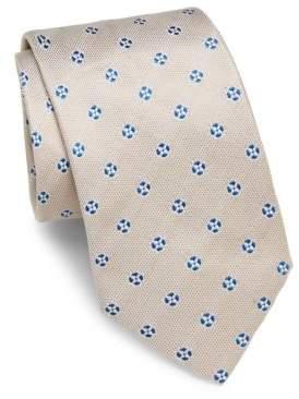 Brioni Floral-Embroidered Silk Tie