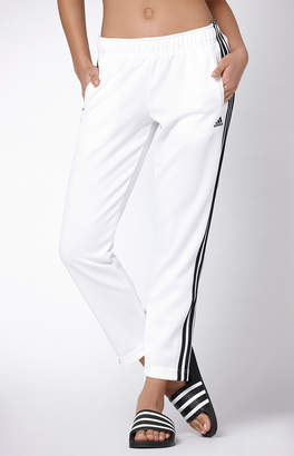 adidas Adicolor White Tricot Snap Button Pants