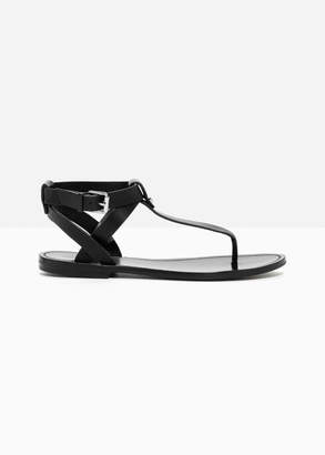 And other stories Leather Toe Post Sandals