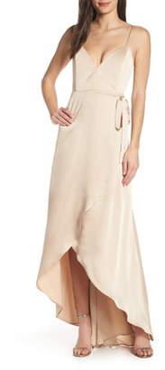 Show Me Your Mumu Mariah Wrap Evening Dress