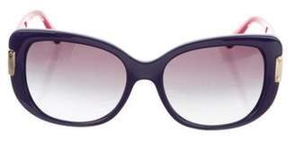 Versace Oversize Logo Sunglasses