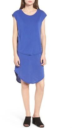Women's Trouve Crossover Back Cap Sleeve Dress $69 thestylecure.com