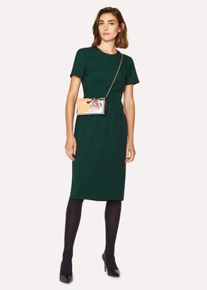 Paul Smith Women's Dark Green Wool-Twill 'A Dress To Travel In'