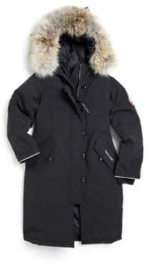 Canada Goose Girl's Fur-Trimmed, Down-Filled Long Parka