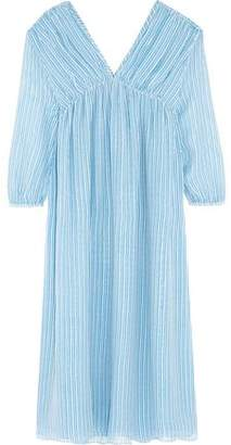 MiH Jeans Petaluma Striped Silk-Georgette Midi Dress