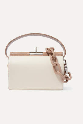 BEIGE Gu_de - Milky 2 Croc-effect And Smooth Leather Tote