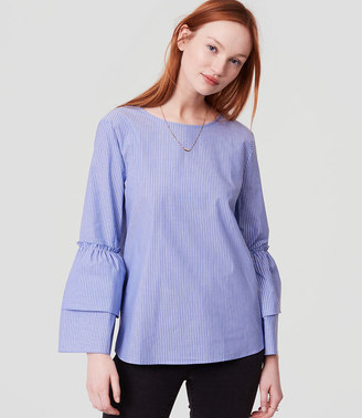 Striped Tie Back Bell Sleeve Top $54.50 thestylecure.com