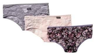 Kensie Printed Lace Panties - Pack of 3