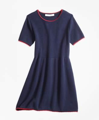 Brooks Brothers Girls Cotton Sweater Dress