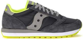 Saucony Jazz Grey And Fluo Yellow Suede And Fabric Sneaker