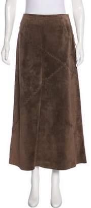 Philosophy di Alberta Ferretti Midi Leather Skirt