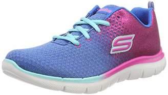 Skechers Girls' Skech Appeal 2.0-GET EM GLITT Fitness Shoes, (Blue/Neon Pink Blnp), 2 (35 EU)
