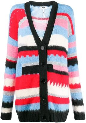 MSGM striped pattern cardigan