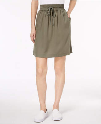 Lacoste Piqué Drawstring-Waist Skirt