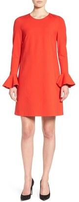 CeCe Bell Sleeve Ponte Shift Dress $129 thestylecure.com
