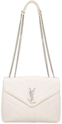 Saint Laurent Off-White Small Loulou Chain Bag