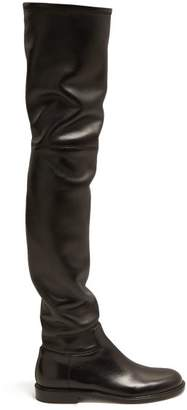 Valentino Shadows Over The Knee Leather Boots - Womens - Black