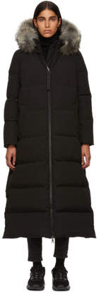 Moncler Black Fur Bernache Down Coat