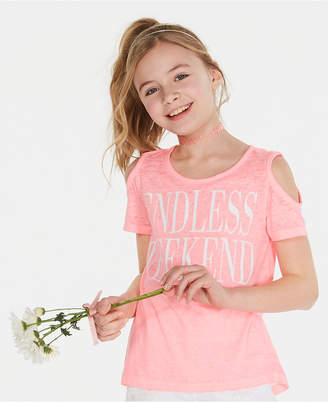 5ff6f9397f39 Disney Epic Threads Big Girls Graphic-Print Cold Shoulder T-Shirt
