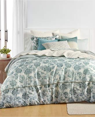 Lucky Brand Floral Batik Cotton Reversible 3-Pc. Full/Queen Duvet Cover Set, Created for Macy's Bedding