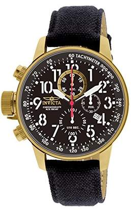 Invicta Men's 1515 I Force Collection 18k Gold Ion-Plated Watch with Cloth-Covered Band