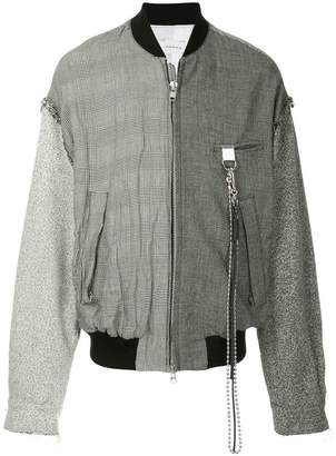 Song For The Mute contrast pattern bomber jacket