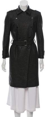 Robert Rodriguez Gunmetal Knee-length Coat