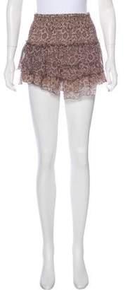 Anine Bing Printed Silk Skirt