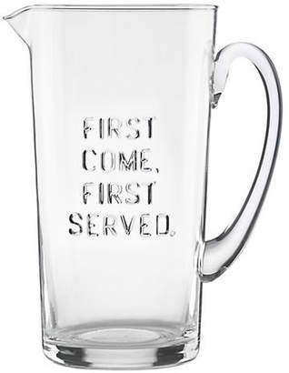 Kate Spade First Come First Served Glass Pitcher