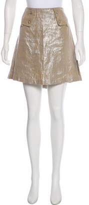 Mayle Foil Accented Mini Skirt