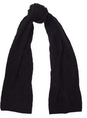 78d4af7e8a312 Black Cable Knit Scarf - ShopStyle UK