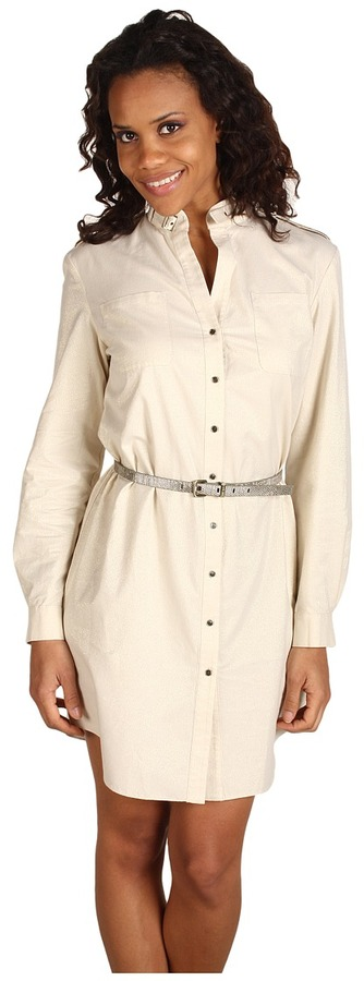 Anne Klein Shimmer Gauze Shirtdress