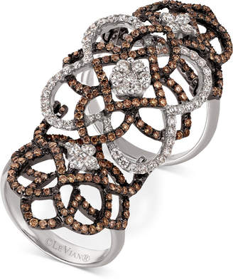 LeVian Le Vian Chocolatier Diamond Knuckle Ring (2 ct. t.w.) in 14k White Gold