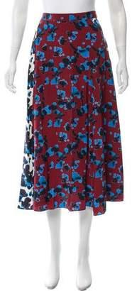 Tanya Taylor Abstract Midi Skirt