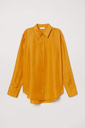 H&M Silk Shirt - Yellow