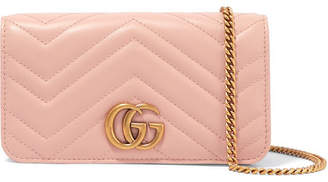 b9ce95676b10 Gucci Gg Marmont Mini Quilted Leather Shoulder Bag - Baby pink
