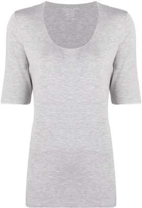 Majestic Filatures scoop neck longline T-shirt