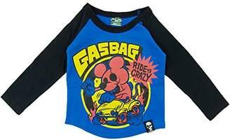 GasBag ガスバグ) CRAZY MOUSE 天竺長袖Tシャツ 130cm /ブルー NO.G-34-651
