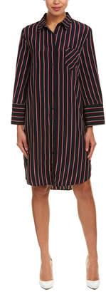 EVIDNT Striped Shirtdress