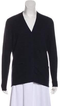 Dries Van Noten Wool Blend Long Sleeve Cardigan