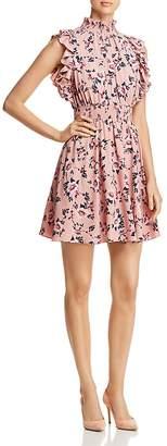 Kate Spade Prairie-Rose Sleeveless Ruffle-Trim Dress