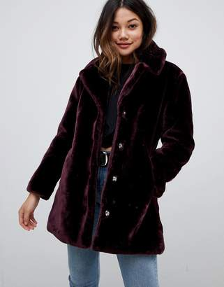 Brave Soul tasmin faux fur tailored coat