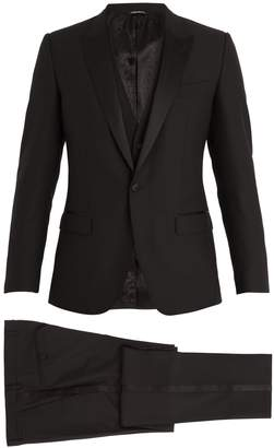 Dolce & Gabbana Single-breasted satin peak-lapel wool-blend tuxedo