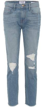 Frame Le Boy mid-rise cropped jeans