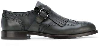 Tod's fringed monk strap shoes