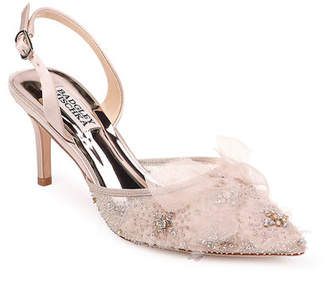 Badgley Mischka Angeline Embellished Slingback Pumps